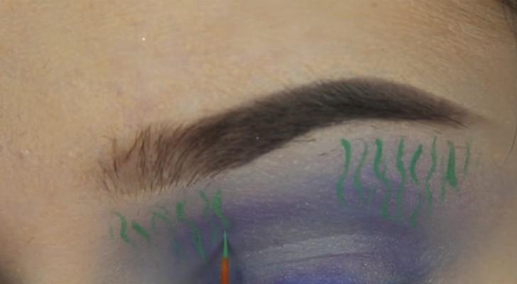 Começa a usar várias sombras diferentes: a maquiagem que faz é digna de um artista!
