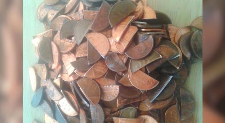Hij wilde zijn keuken speciaal maken: het is hem gelukt met muntstukken van 1 cent