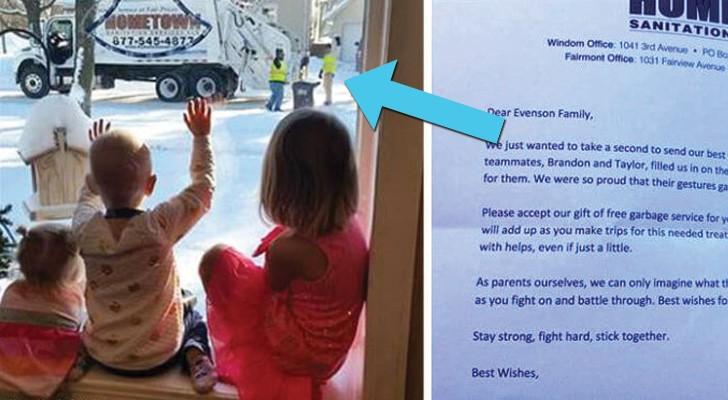 vuilnismannen groeten drie zusjes elke donderdag... maar op een dag krijgen ze een brief die ze niet verwachtten