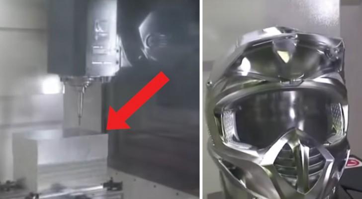Fascinerende 5-assige freesmachine: bekijk hoe deze machine een aluminiumblok modelleert!
