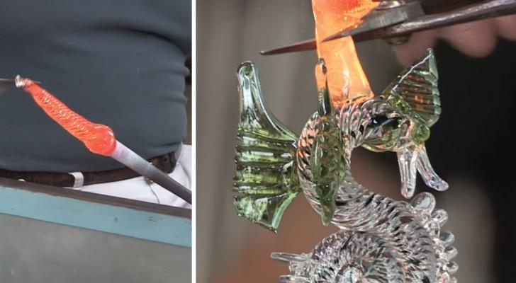 L'incroyable charme du travail du verre: regardez comment prend vie le corps de ce dragon