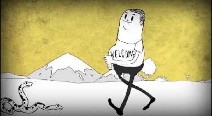 MAN : människans grymhet i en tecknad film