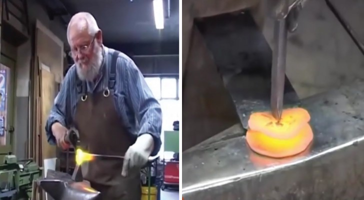 Watch the fascinating creation of a ... rose made of steel!