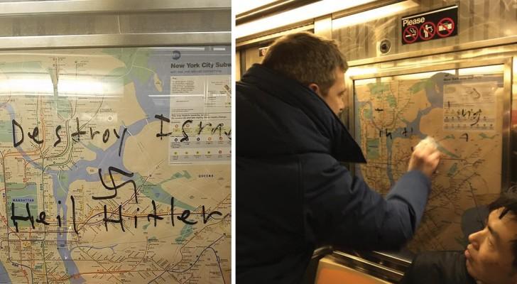 Des croix gammées ont été dessinées dans le métro: le geste d'un garçon mobilise TOUS les passagers