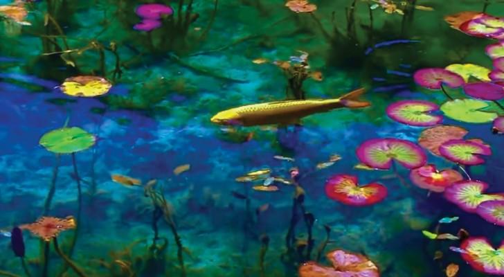Dessin ou réalité? Cet étang japonais ressemble à un tableau de Monet