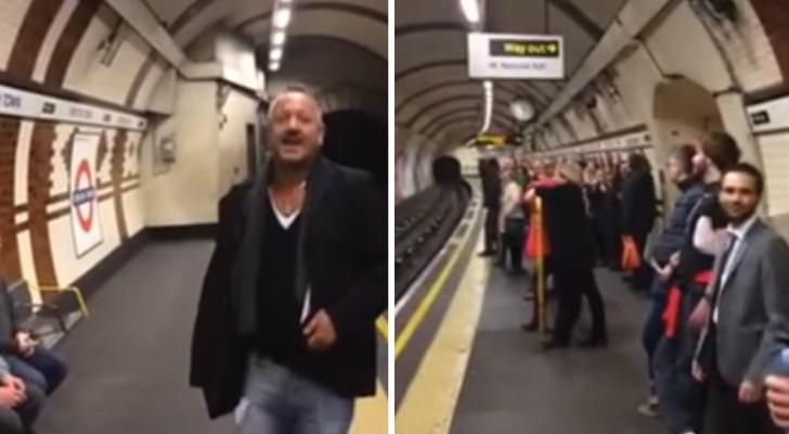 Un uomo inizia a cantare nella metro: in un attimo tutti si uniscono a lui e... Spettacolo!