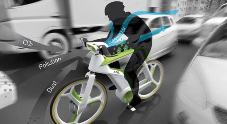Convertir le smog en air propre... en pédalant: voici le vélo qui filtre l'air