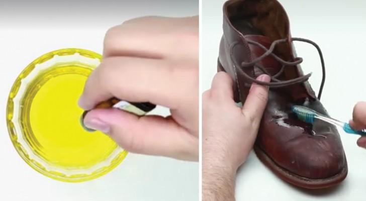 Zijn je leren schoenen afgedragen? Met deze mix zijn ze binnen een mum van tijd weer zo goed als nieuw!