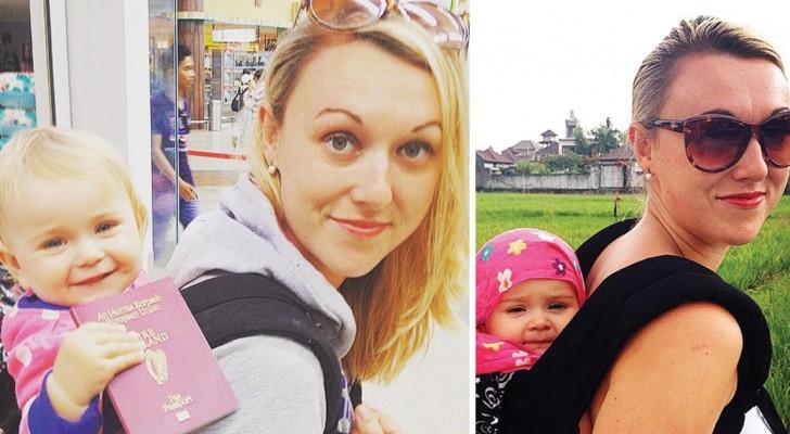 Sfrutta il congedo per maternità per girare il mondo con la figlia: il suo diario di viaggio è incredibile