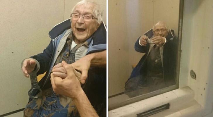 Una donna di 99 anni si reca alla polizia: gli agenti non possono che accontentare la sua richiesta!