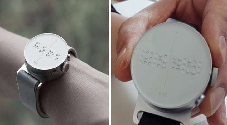 Het eerste slimme braillehorloge dat blinde mensen berichtjes laat versturen en ontvangen