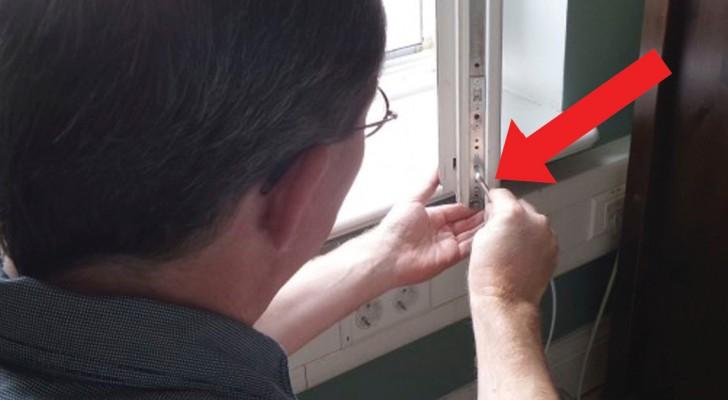 Sur les fenêtres à double vitrage il y a une vis qui doit être tournée DEUX fois par an: le saviez-vous?