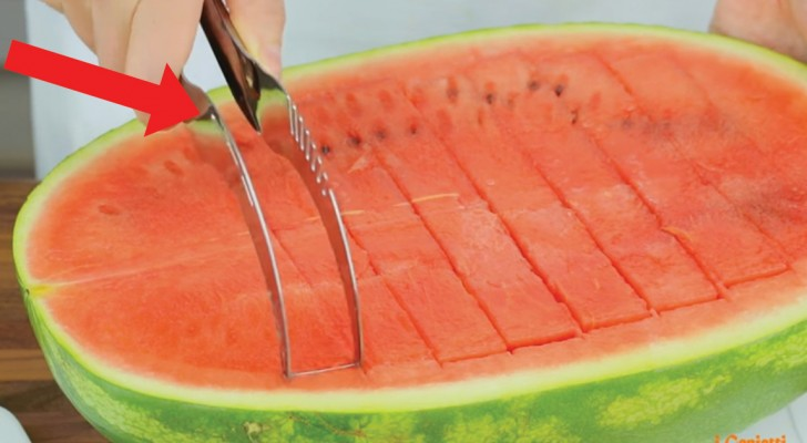 A special knife that makes serving watermelon a breeze!