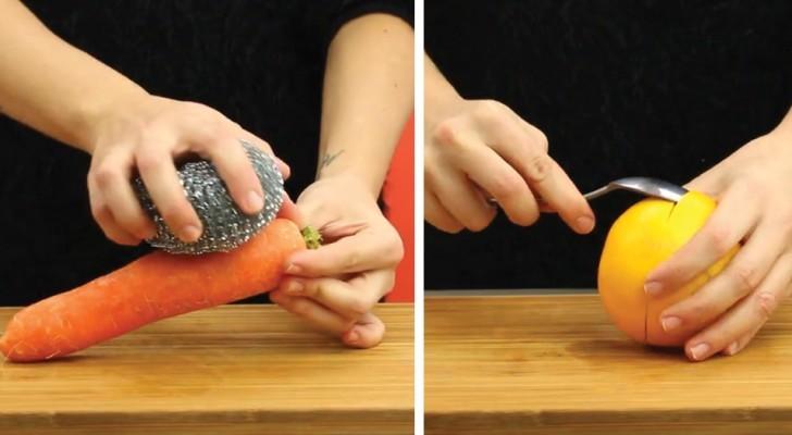 6 astuces intelligentes pour peler les aliments plus facilement... et avec un peu de créativité