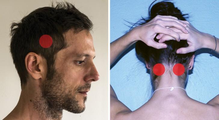Kopfschmerzen? Befreit euch vom Schmerz indem ihr diese Punkte massiert (und Schmerzmittel vermeidet)