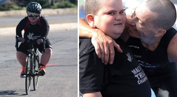 Il bambino che combatte per la vita facendo triathlon: la storia più tenera (e triste) che leggerete oggi