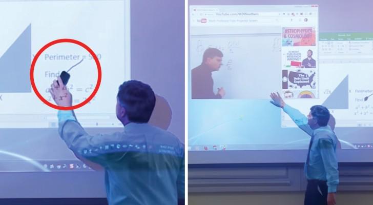Este profesor ha usado el boligrafo donde NO debia. Como resolver el problema? Fantastico!