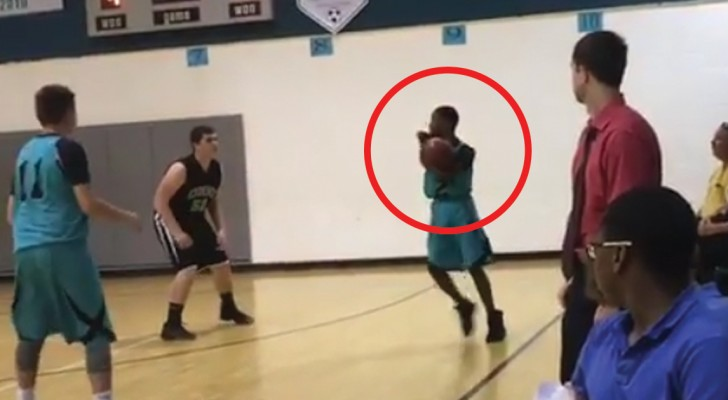 This young disabled basketball player still makes stunning shots!