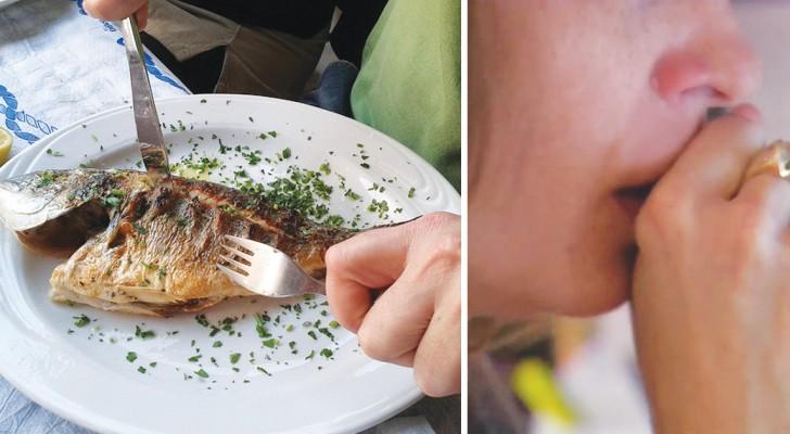 Spina di pesce nella gola: niente panico, ecco come eliminare il fastidio in un solo colpo