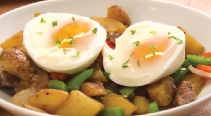 Il trucco per cucinare le uova in camicia in modo veloce e - Cucinare le uova ...
