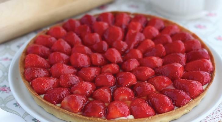 Recette facile et rapide de tarte aux fraises!
