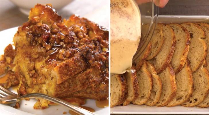 Você não quer botar fora o pão dormido? Então aprenda a transformá-lo em um delicioso french toast