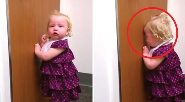 Dieses Mädchen hat gerade ein Schwesterchen bekommen: ihre Reaktion? Beurteilt sie selbst...