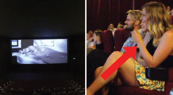 Elle va au cinéma avec son fiancé, mais quand les lumières s'éteignent, un « film » inattendu commence
