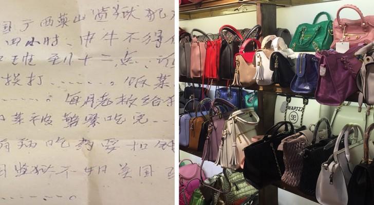 Eine Frau findet eine versteckte Nachricht in ihrer neuen Tasche: Die Anfrage ist alarmierend