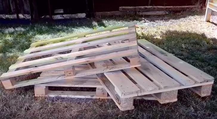 Zo maak je stap voor stap een bank van 3 pallets