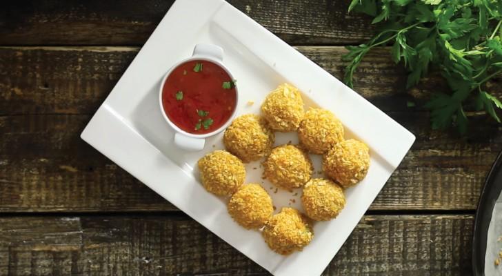 Potatisbullar med ost som du kan förbereda i 6 enkla steg