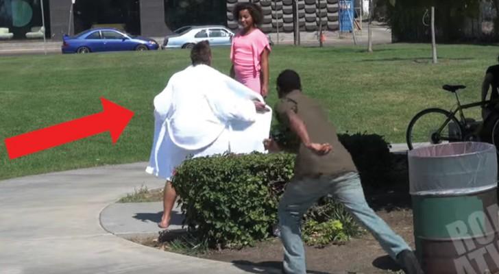 When is flashing children NOT a nasty prank?