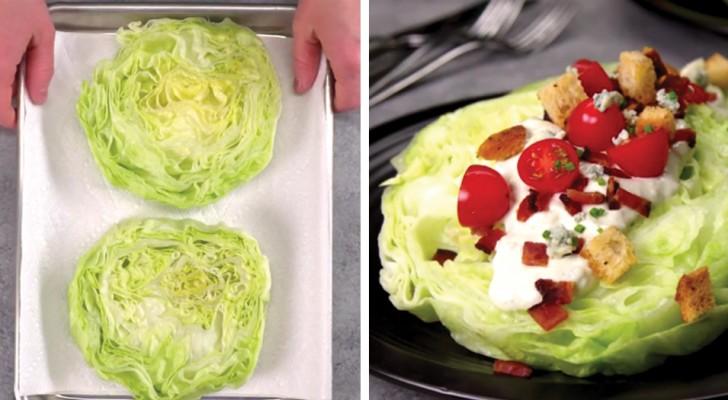 Insalata iceberg a fette con condimento ai formaggi: una versione ricca che vorrete provare subito