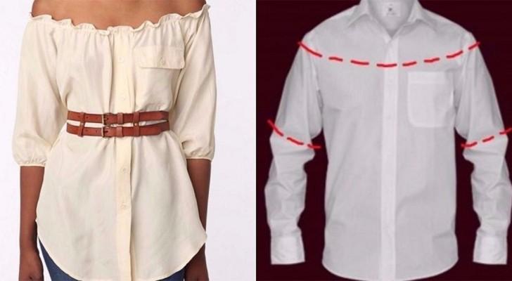 10 façons de transformer les chemises d'hommes en des vêtements pour femmes: laquelle de ces techniques allez-vous choisir?