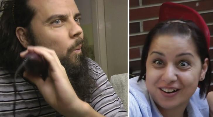 Il décide de se couper la barbe et filme la réaction de tous ceux qui le connaissent