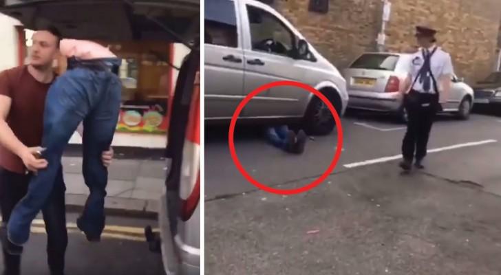 Usa as pernas de um manequim para estacionar o veículo em qualquer lugar sem tomar uma multa!