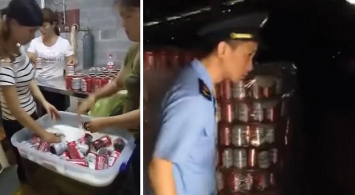 Cette usine chinoise produisait de fausses canettes de bière... d'une marque qu'on connaît tous