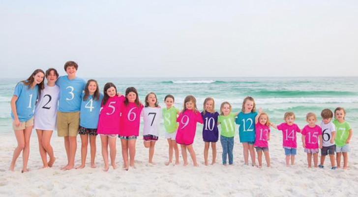 17 cugini in una foto: questo scatto mostra tutta la bellezza delle famiglie numerose