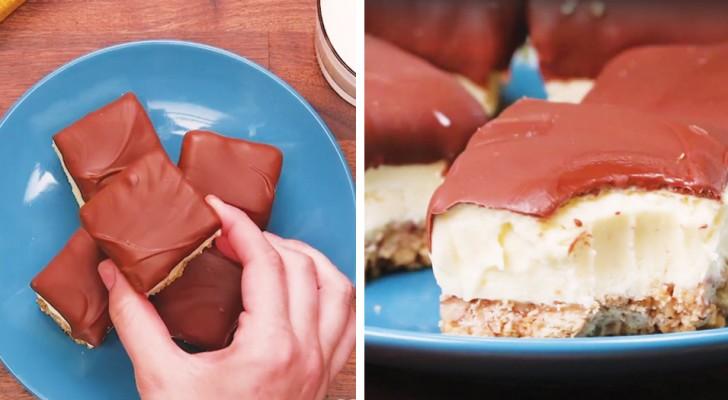 Mini-Schoko-Käsekuchen: das Rezept der Version, die man mit einem Biss aufisst
