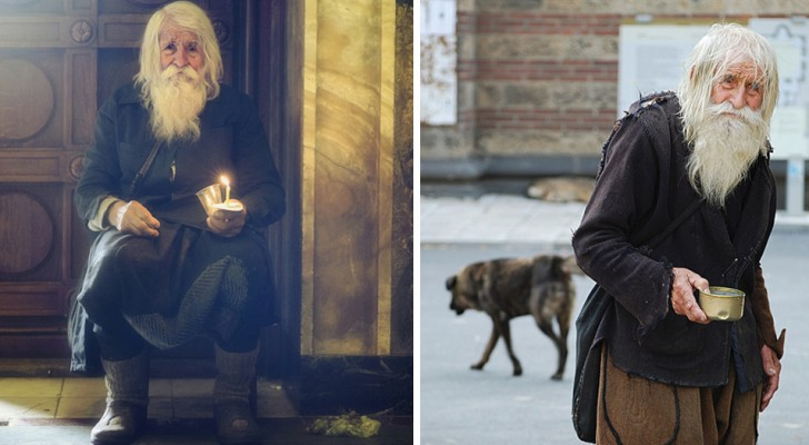 Deze dakloze man is 103 jaar oud, verdient veel geld maar houdt geen enkele cent voor zichzelf