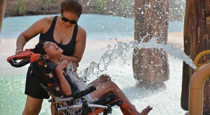 Het eerste waterpark voor gehandicapten is geopend... en dat is het mooiste dat er is!