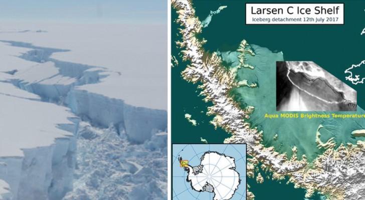 Si stacca uno dei ghiacciai più grossi dell'Antartide: gli esperti hanno pochi dubbi su una della cause