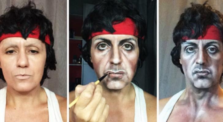 Sie verwandelt sich selbst in berühmte Menschen NUR dank der Magie des Make-ups!
