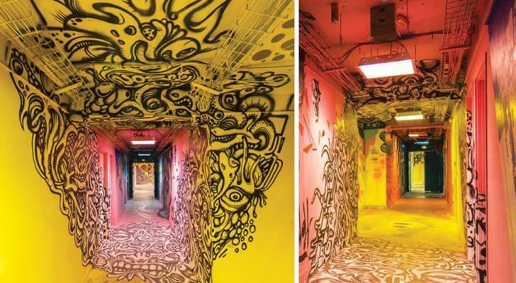 Chiedono a 100 street artist di ridipingere la scuola prima di ristrutturarla: l'effetto non ha eguali
