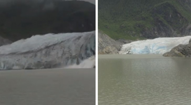 How the Mendenhall glacier has changed in 8 years  is astonishing  --- see the changes with a time-lapse camera