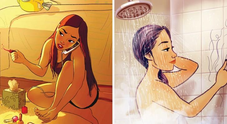 Ces illustrations décrivent parfaitement le bonheur de vivre seul