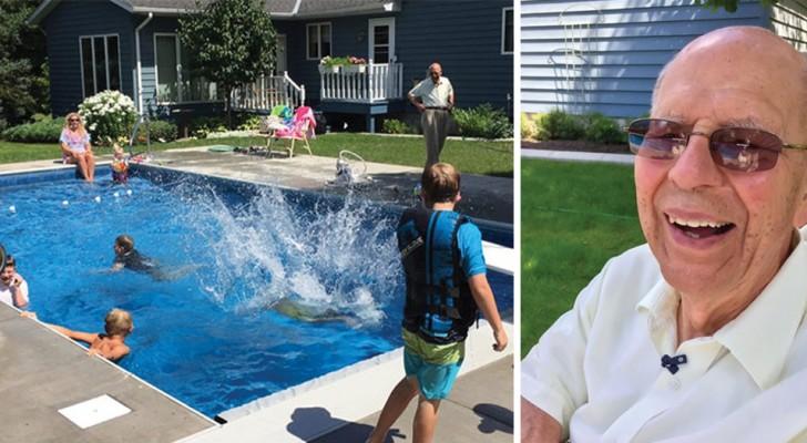 Un homme de 94 ans construit une piscine après la mort de sa femme pour ne pas se sentir seul