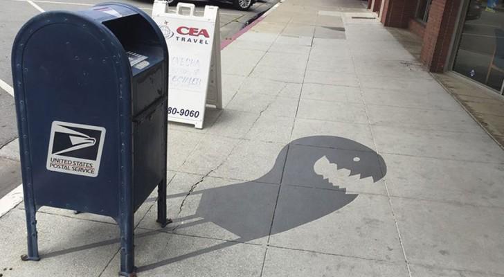 Disegna le ombre delle cose per confondere le persone: il risultato sembra vero!