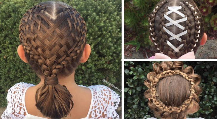 Tous les matins, avant l'école, cette maman fait à sa fille des coiffures incroyables