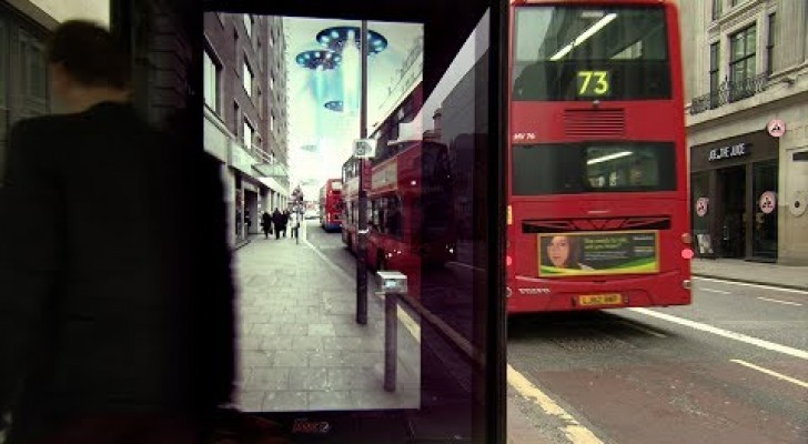Unbelievable things happen at a bus stop!